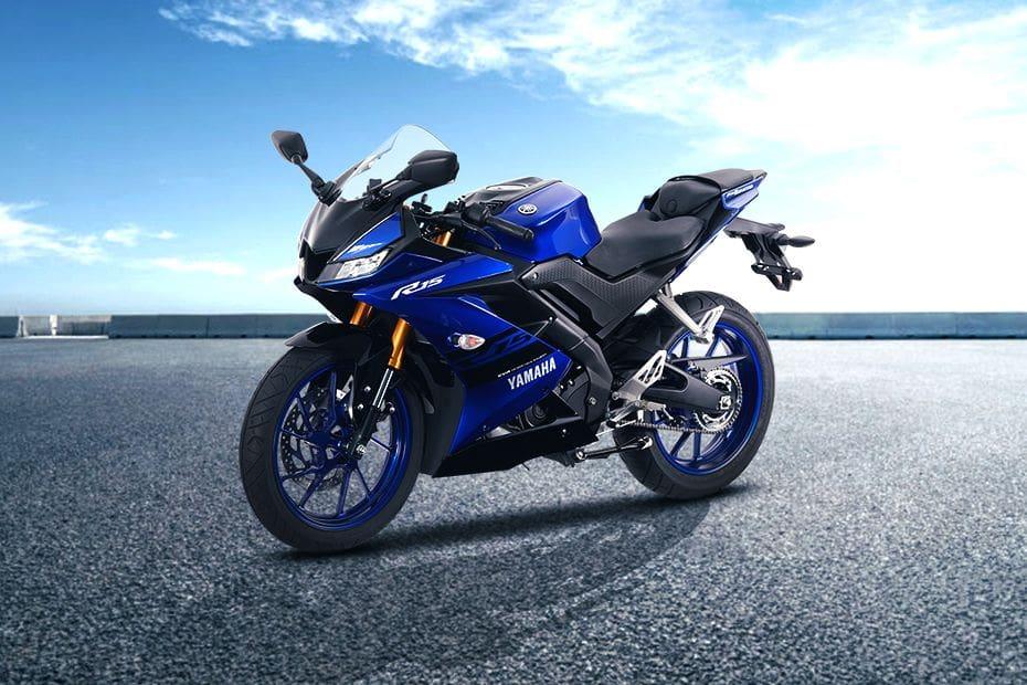 Yamaha YZF-R15 Slant Front View Full Image