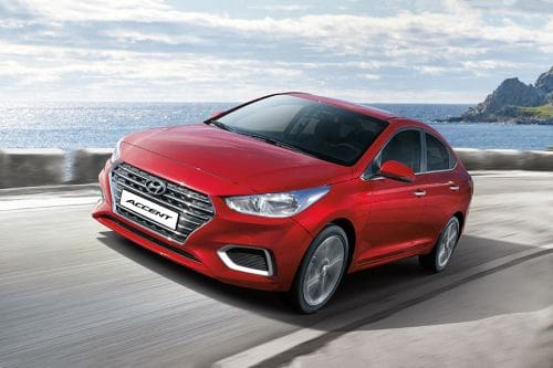Hyundai Accent Front Side View