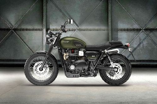 Triumph Street Scrambler Left Side View Full Image