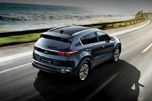 Sportage Rear angle view