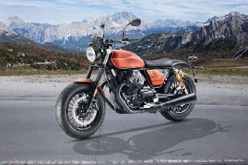 Moto Guzzi V9 Bobber Sport Slant Front View Full Image