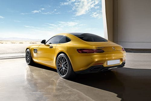 Rear Cross Side View of Mercedes-Benz AMG GT