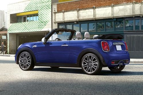 Rear Cross Side View of Mini Convertible