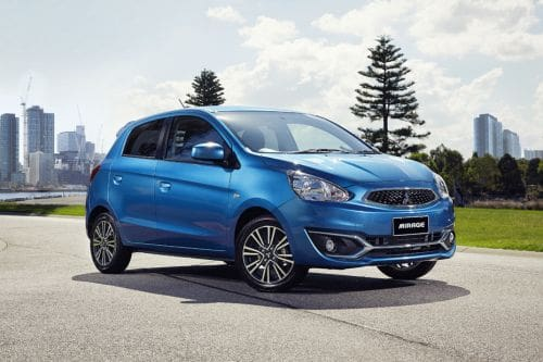 Mitsubishi Mirage Front Medium View