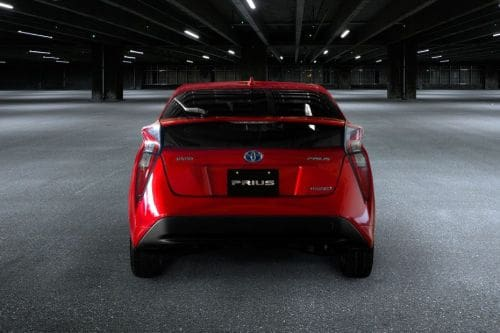 Full Rear View of Toyota Prius