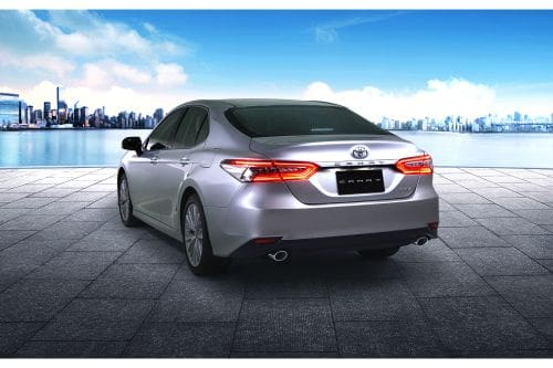 Rear Cross Side View of Toyota Camry