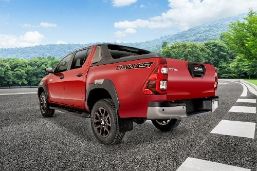 Rear Cross Side View of Toyota Hilux