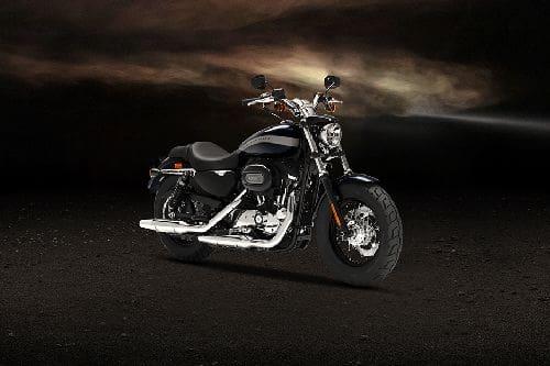 Harley-Davidson 1200 Custom Slant Rear View Full Image
