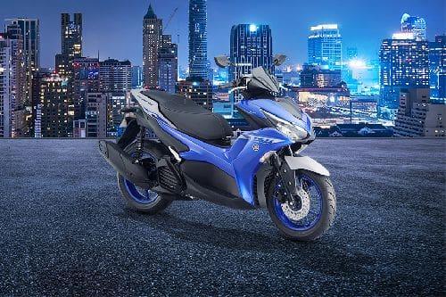 Yamaha Aerox 155 Slant Rear View Full Image