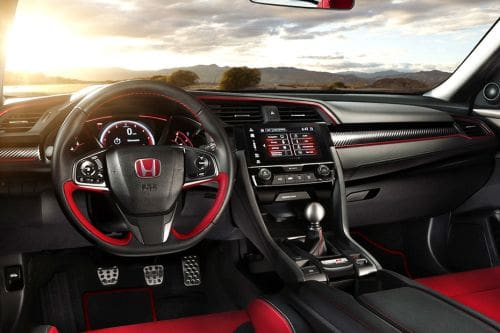 Dashboard View of Civic Type-R