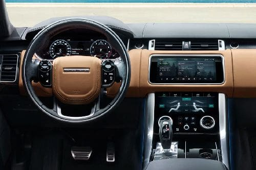 Dashboard View of Range Rover Sport