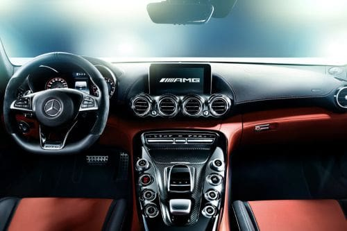Dashboard View of AMG GT