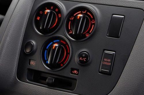 Front AC Controls of Nissan NV350 Urvan