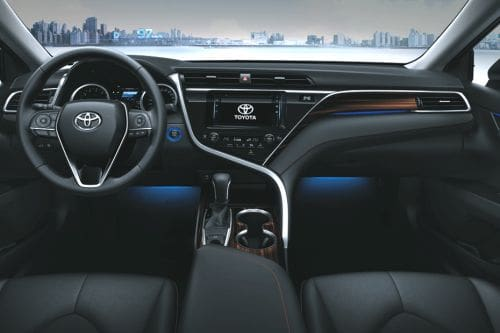 Dashboard View of Camry