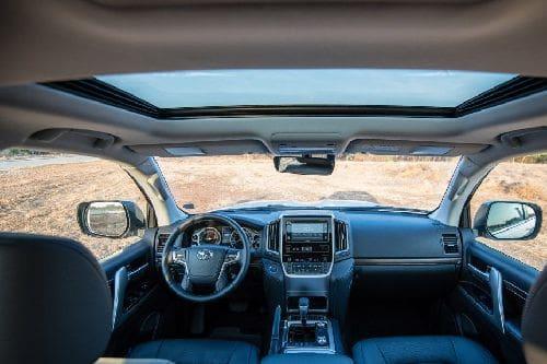 Dashboard View of Land Cruiser 200