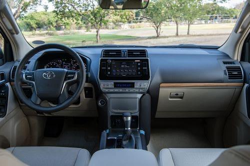 Dashboard View of Land Cruiser Prado
