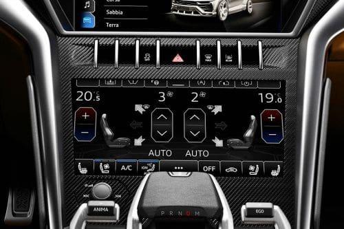 Front AC Controls of Lamborghini Urus
